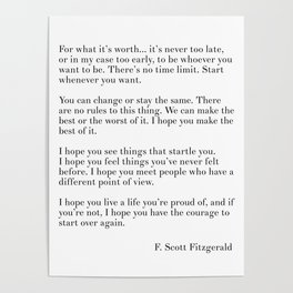 fitzgerald for what it's worth Poster