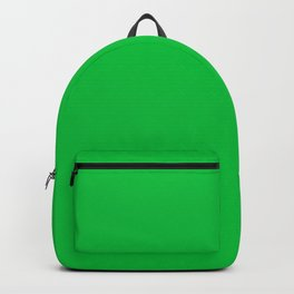 Dark Chalky Pastel Green Solid Color Backpack