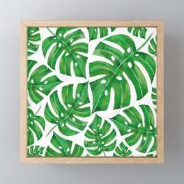 MONSTERA GREEN Framed Mini Art Print