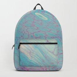 Dirty Acrylic Paint Pour 23, Fluid Art Reproduction Backpack