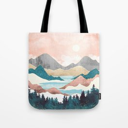 Lake Sunrise Tote Bag