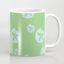 Light Green Floral Coffee Mug