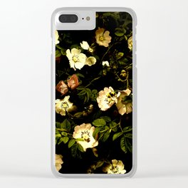 Floral Night I Clear iPhone Case