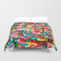sprinkles Duvet Covers featuring Extra Sprinkles  by Laura Ruth