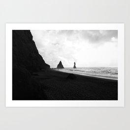 Black and White Vik Art Print