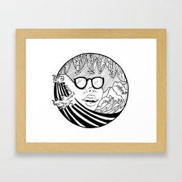 mountain wave Framed Art Print