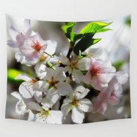 cherry blossom Wall Tapestries featuring Cherry Blossom by Shoot Y'all Photography