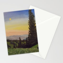 Moonlit Mountain Stationery Cards