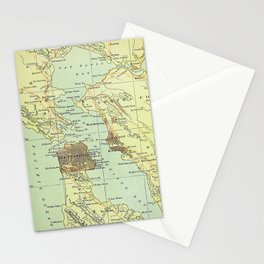 Vintage Map of San Francisco California (1905) Stationery Cards