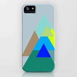 Triangles - mud color scheme  iPhone Case