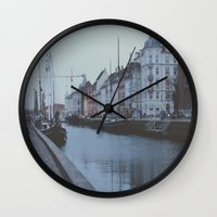 copenhagen Wall Clocks featuring Copenhagen by Gabriri
