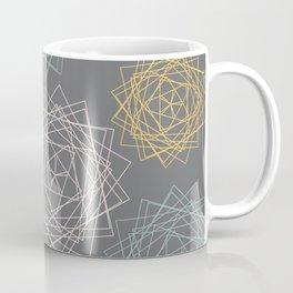 Dark Pastel Origami Blooms Coffee Mug