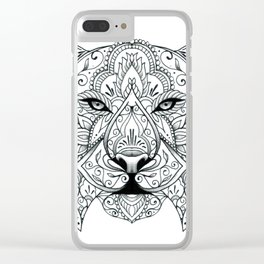 Big Cat Portrait Clear iPhone Case