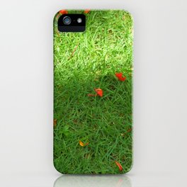 Framboyan in the grass iPhone Case