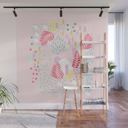 Organic Nature - Colourful Doodle Pattern 4 Wall Mural