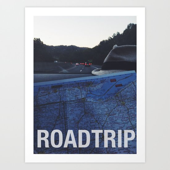 Roadtrip Art Print
