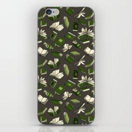 Spellbooks, green iPhone Skin