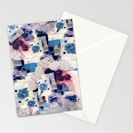 patchy collage Stationery Cards