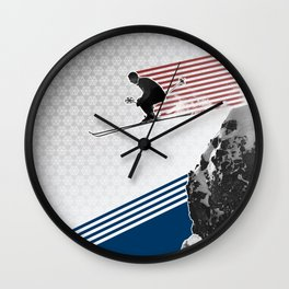 Fly by Snow Wall Clock