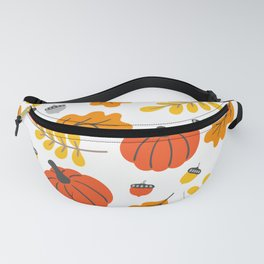 Pumpkins and fall leafs and foliage pattern Fanny Pack