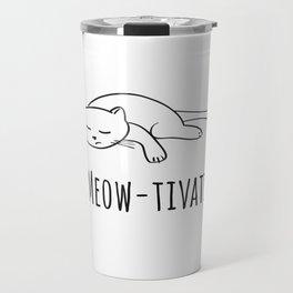 No Meow-tivation Travel Mug