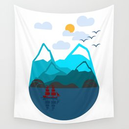 Pirate Ship Adventures Wall Tapestry