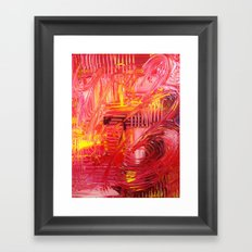 THE TANGO - BOLD Bright and Beautiful, Modern Abstract Painting Dance Home Decor Red Yellow Framed Art Print