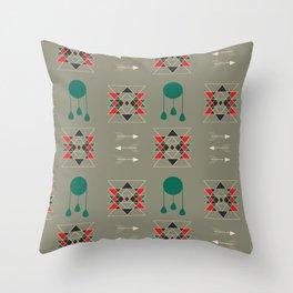 dream-catcher gray Throw Pillow