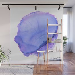 Purple ink blot 2 Wall Mural
