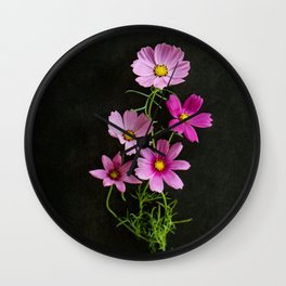 Cosmos Bouqet Wall Clock