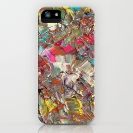 Abstract Acrylic Palette Knife painting iPhone Case