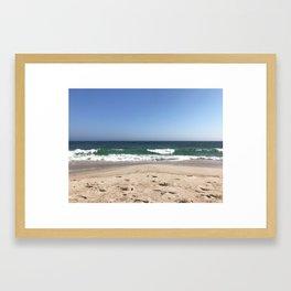 Jones Beach Green Wave Framed Art Print