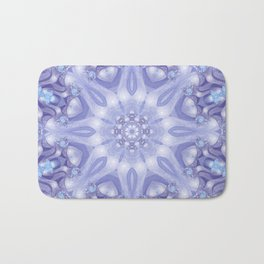 Light Blue, Lavender & White Floral Mandala Bath Mat