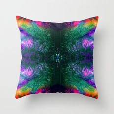 funky Palm Throw Pillow