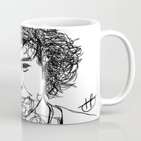 harry styles Mugs featuring Harry Styles by Hollie B