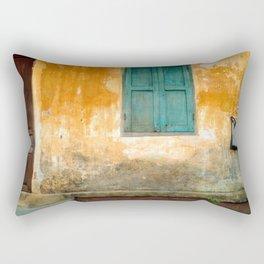 Antique Chinese Wall of Hoi An Rectangular Pillow