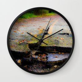 Broken Road Wall Clock
