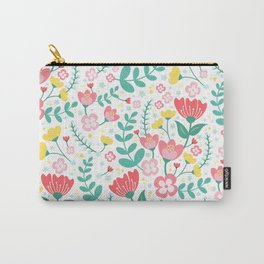 Flower Lovers - White Carry-All Pouch