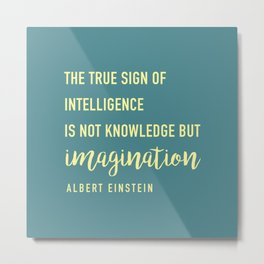 The true sign of intelligence Metal Print