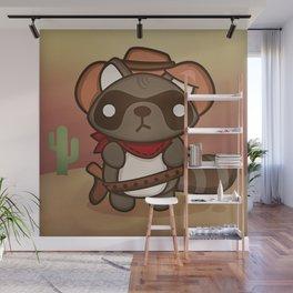 Alex the Prankish Raccoon Wall Mural