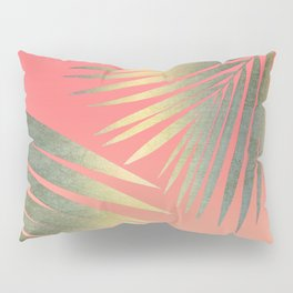 Shining Palm Fronds Pillow Sham