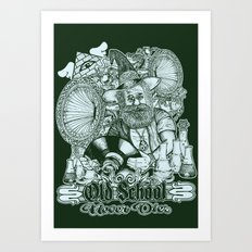 Old School Never Dies Art Print