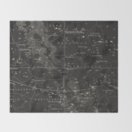 Southern Signs of Zodiac Throw Blanket