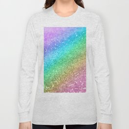Rainbow Princess Glitter #1 (Photography) #shiny #decor #art #society6 Long Sleeve T-shirt