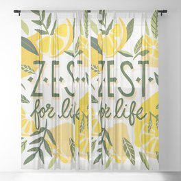 Zest for Life – Yellow & White Palette Sheer Curtain