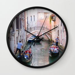 Exploring Venice by Gondola Wall Clock