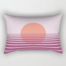 Pink sunset print - Girls Gang Prints Rectangular Pillow