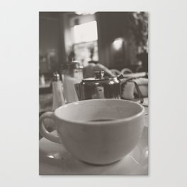 Tea at The Elephant House in Black & White Canvas Print