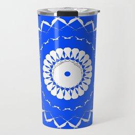 Greek Blue & White Mosaic Travel Mug