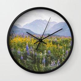 Waterton Wildflowers Wall Clock
